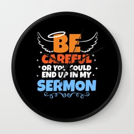 Sermon Minister Pastor Preacher Gift Wall Clock