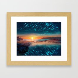 All around Framed Art Print