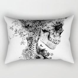 Skull BW Rectangular Pillow