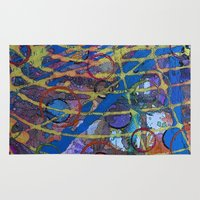 grid Area & Throw Rugs featuring Grid by Heather Plewes Art