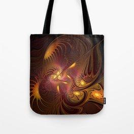 Coming Home, Abstract Fantasy Fractal Art Tote Bag