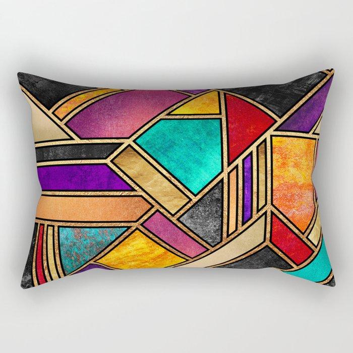 Colorful City Night Rectangular Pillow