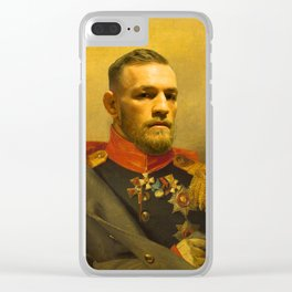 Conor McGregor Classical Painting Clear iPhone Case