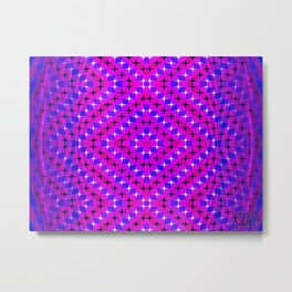 FLUX #7  Optical Illusion Vibrant Colorful Psychedelic Trippy Design Metal Print