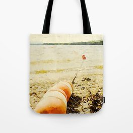 Floats, Lily Bay State Park, Maine Tote Bag