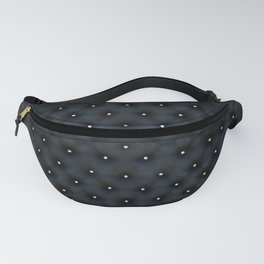 Black Velvet and Diamond Quilted Pattern Fanny Pack