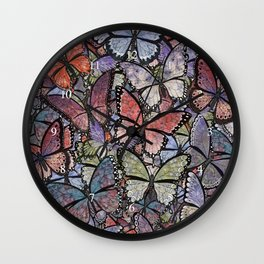 butterflies galore grunge version Wall Clock