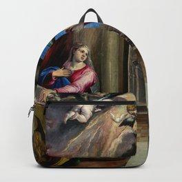 """El Greco (Domenikos Theotokopoulos) """"The Annunciation (1577-1580)"""" Backpack"""