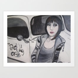 Cabby Girl Art Print