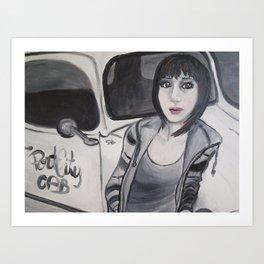 Cabby Girl Art Print