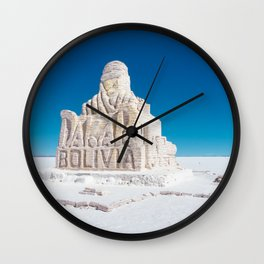 Dakar, Bolivia Monument in Salar de Uyuni, Salt Flats Wall Clock