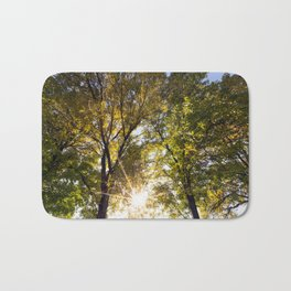 yellow and green leaves Bath Mat