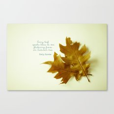 Every leaf speaks bliss Canvas Print