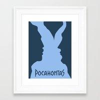 pocahontas Framed Art Prints featuring Pocahontas by Citron Vert