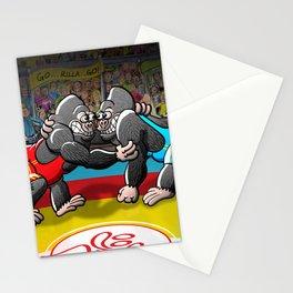 Olympic Wrestling Gorillas Stationery Cards