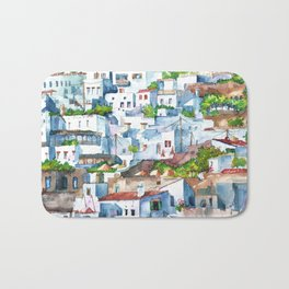 Panorama of Lindos Bath Mat
