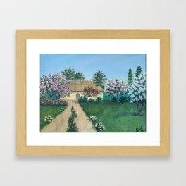 Cherry Blooming Framed Art Print