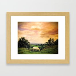 Farmland in Cumbria Framed Art Print