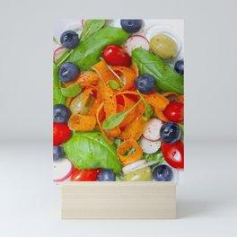 Lovely Carrot Blueberry Tomato Salad Mini Art Print