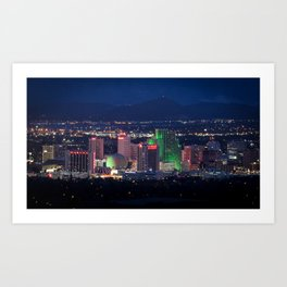 Reno: The Sexiest Skyline in America Art Print