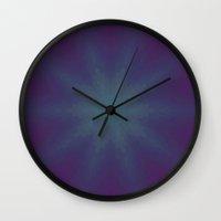 night sky Wall Clocks featuring Night Sky by Lena Photo Art