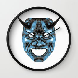 Hannya - low poly Wall Clock