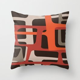 Mid-Century Pattern No. 84 Throw Pillow
