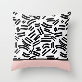 Patterned & Pink Throw Pillow