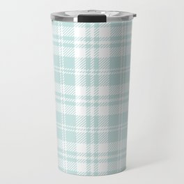 Cozy Plaid in Mint Travel Mug