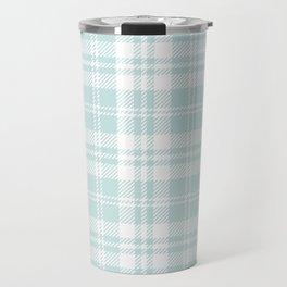 Cozy Plaid in Mint Travel Mug