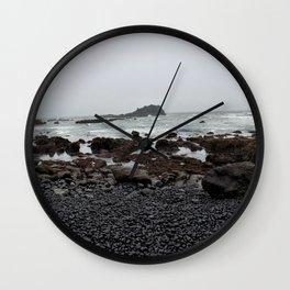 Gray Getaway Wall Clock