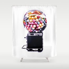 gum Shower Curtain