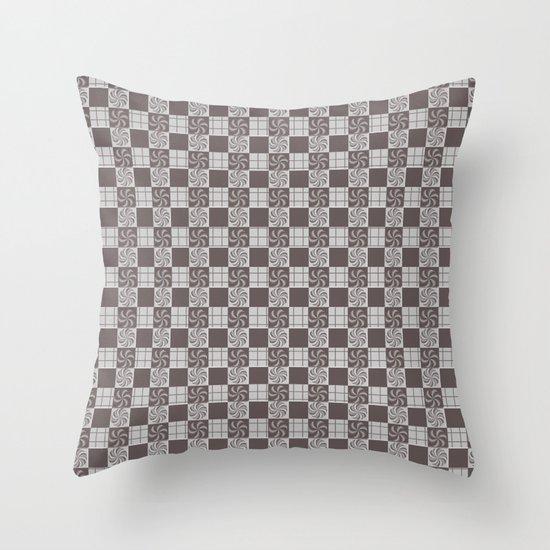 pattern (vintage swirl#1) Throw Pillow
