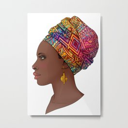 Black African Queen Metal Print