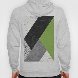 Black and White Marbles and Pantone Greenery Color Hoody