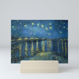 Van Gogh, Starry Night Over The Rhone Artwork Reproduction, Posters, Tshirts, Prints, Bags, Men, Wom Mini Art Print