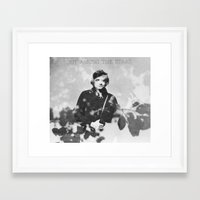 johnny cash Framed Art Prints featuring johnny cash by monicamarcov