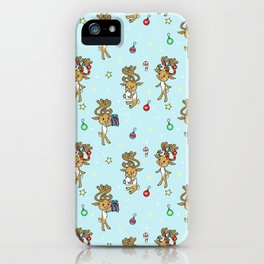 Reindeers and Ornaments - yule iPhone Case