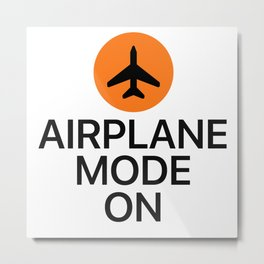 Airplane Mode On Metal Print