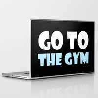 gym Laptop & iPad Skins featuring GYM GYM by ItsFahmi