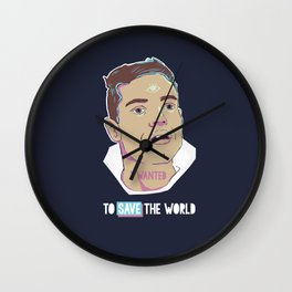 Elliot saves the world Wall Clock