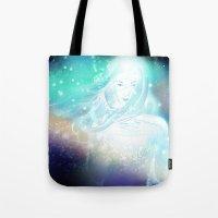 aurora Tote Bags featuring Aurora by Stevyn Llewellyn