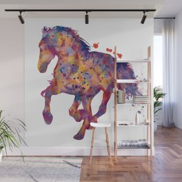 Running Stallion Silhouette Wall Mural