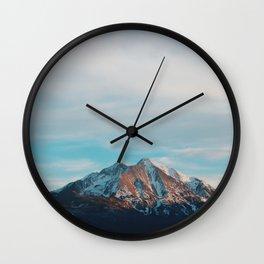 Mount Sopris Sunset 3/19/17 Wall Clock
