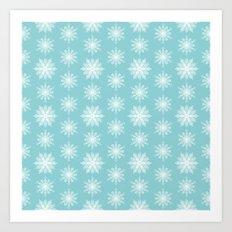 Frosty Snowflakes Art Print