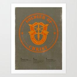 Soldier of Christ Art Print