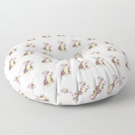Thumper With Flowers Floor Pillow