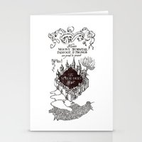 marauders Stationery Cards featuring MARAUDERS MAP by ThreeBoys