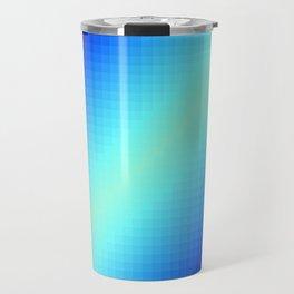 Blue Gradient Squares Travel Mug