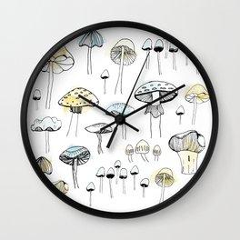 Mushroom harvest Wall Clock